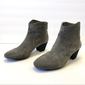 Vince Camuto Dark Gray Joster Suede Leather Boots